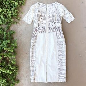 Beguile Byron Lars Anthropologie Lace Sheath Dress